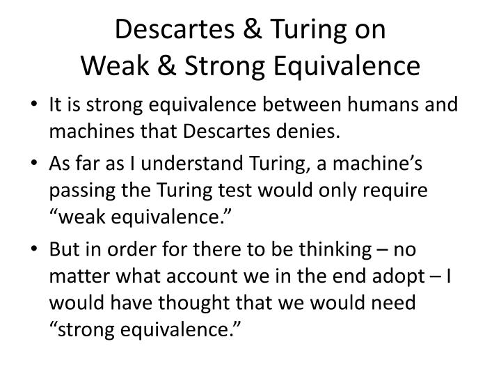 Descartes & Turing on