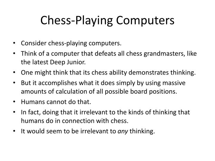 Chess-Playing Computers