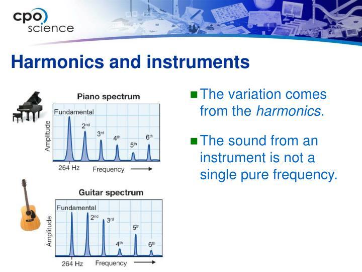 Harmonics and instruments