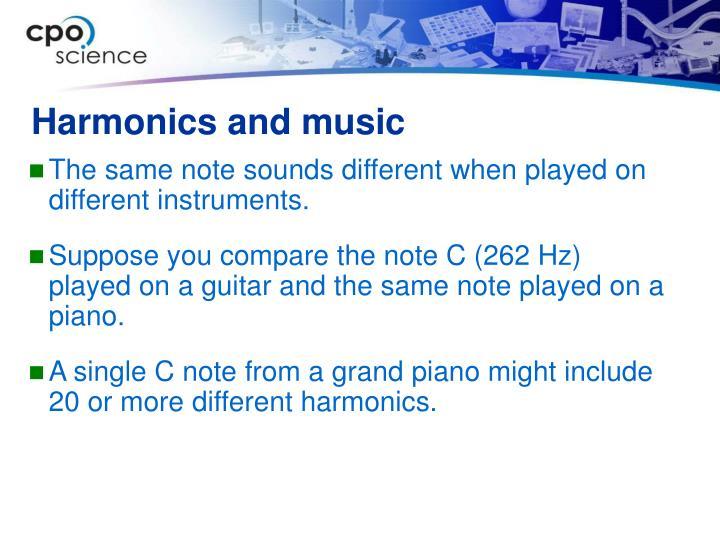 Harmonics and music