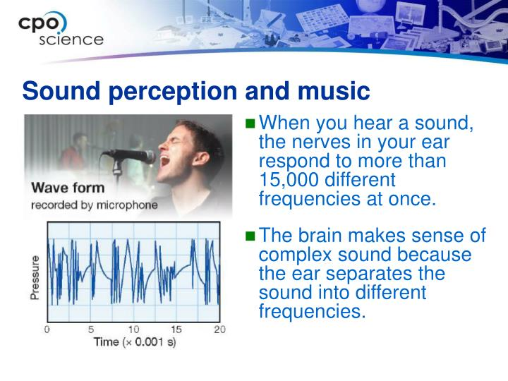Sound perception and music