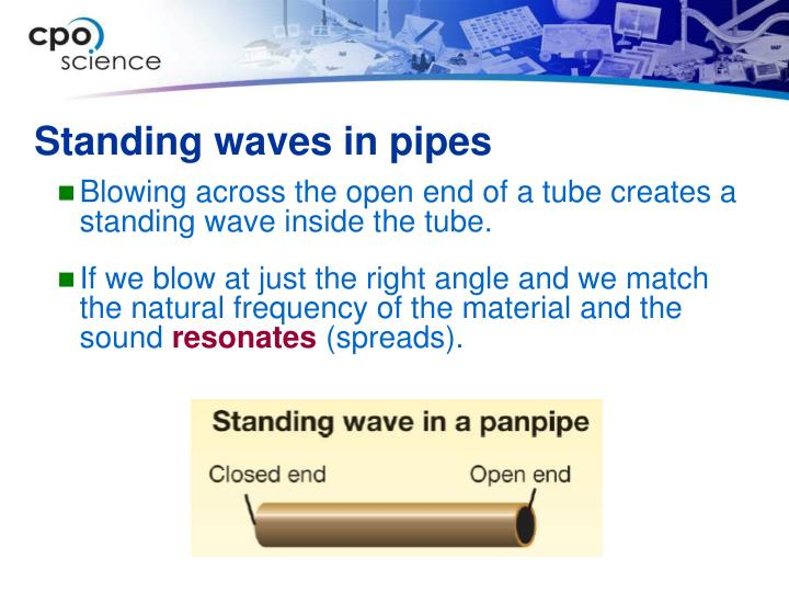 Standing waves in pipes