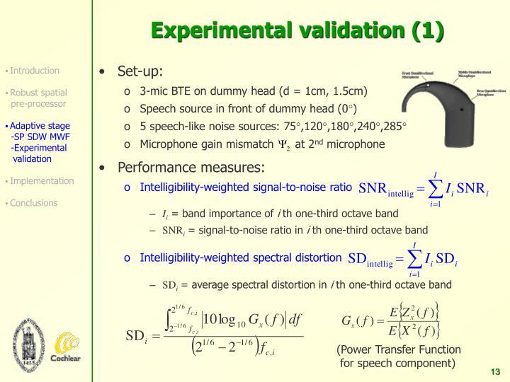 Experimental validation (1)