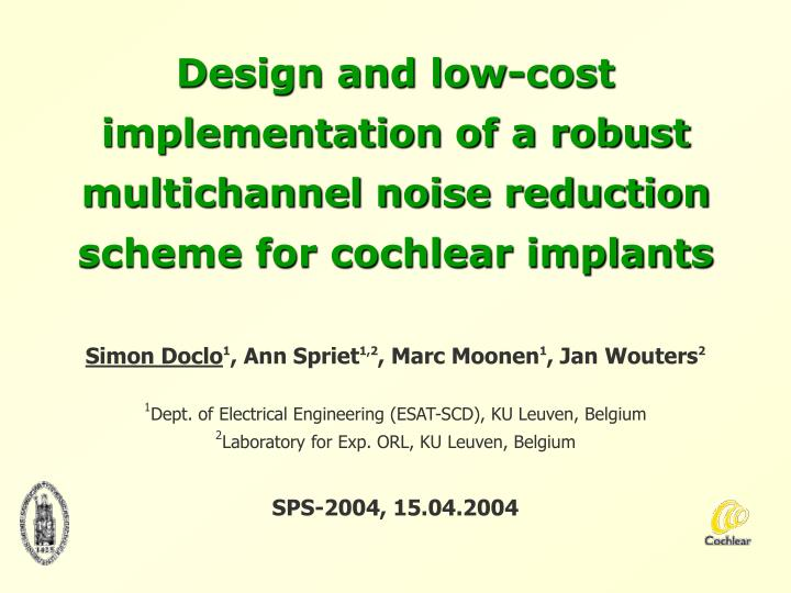 Design and low-cost implementation of a robust