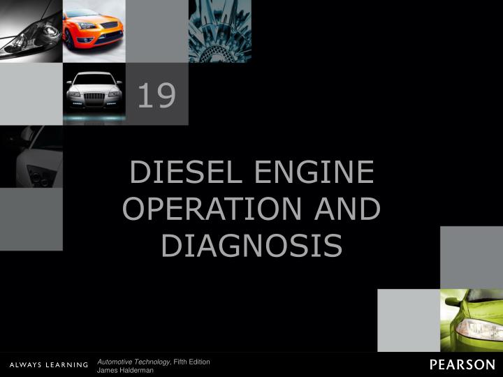 diesel engine operation and diagnosis n.