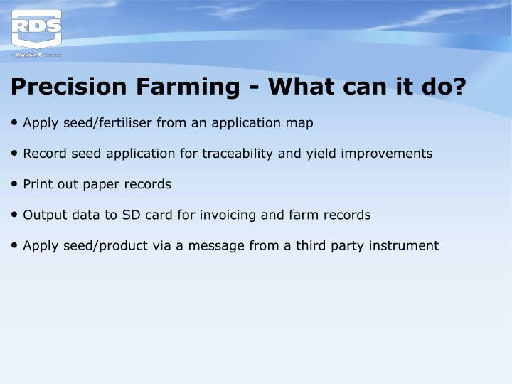 Precision Farming - What can it do?