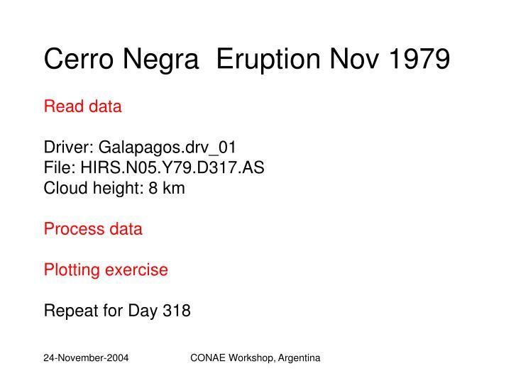 Cerro Negra  Eruption Nov 1979