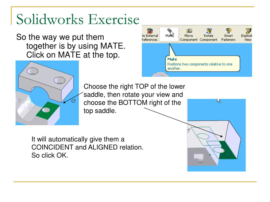 PPT - Solidworks: Lesson 4 – Assembly Basics and Toolbox PowerPoint