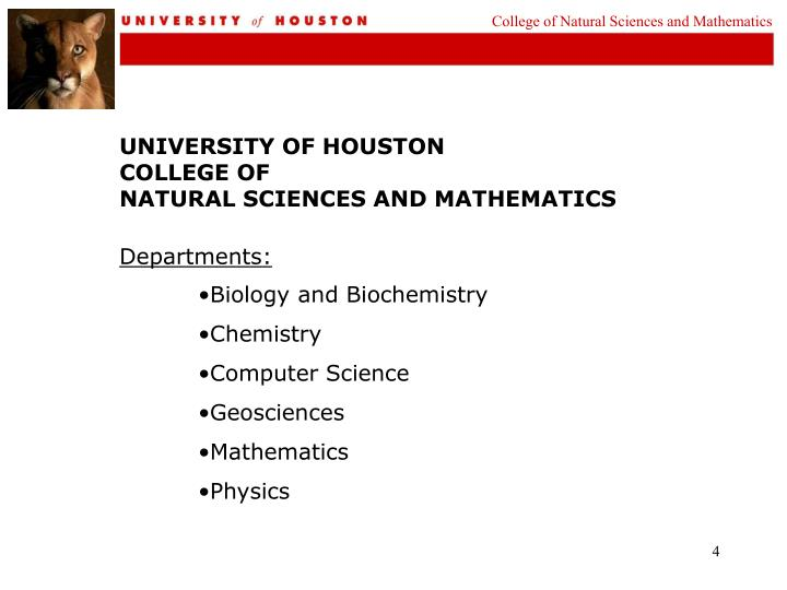 College of Natural Sciences and Mathematics