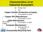 characteristics of an industrial ecosystem
