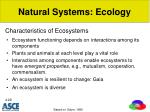 characteristics of ecosystems