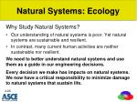 natural systems ecology