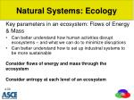 natural systems ecology2