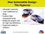 new automobile design the hypercar