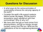 questions for discussion1
