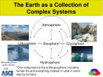 the earth as a collection of complex systems