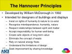 the hannover principles