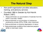 the natural step