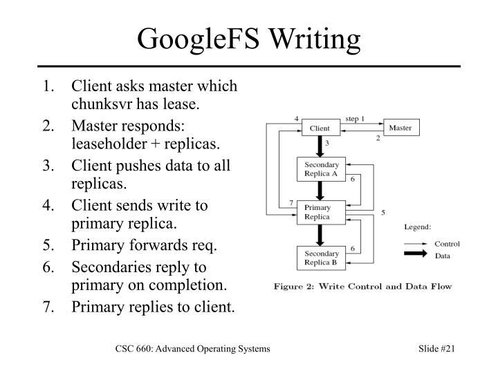 GoogleFS Writing