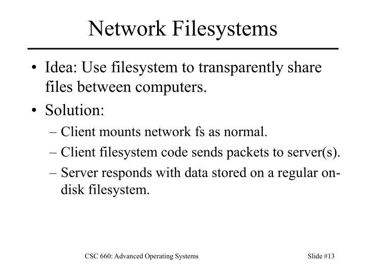 Network Filesystems