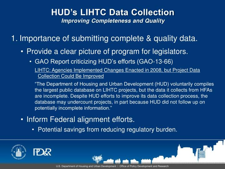 Hud s lihtc data collection improving completeness and quality