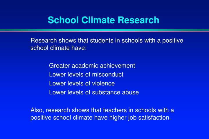 School Climate Research