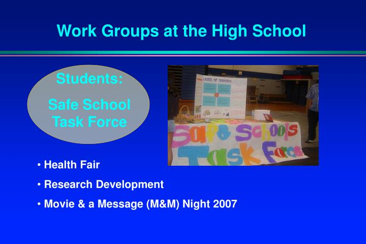Work Groups at the High School