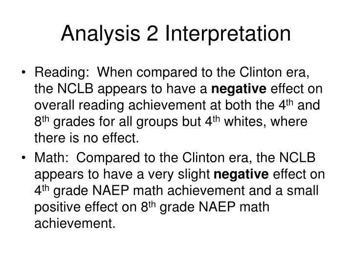 Analysis 2 Interpretation
