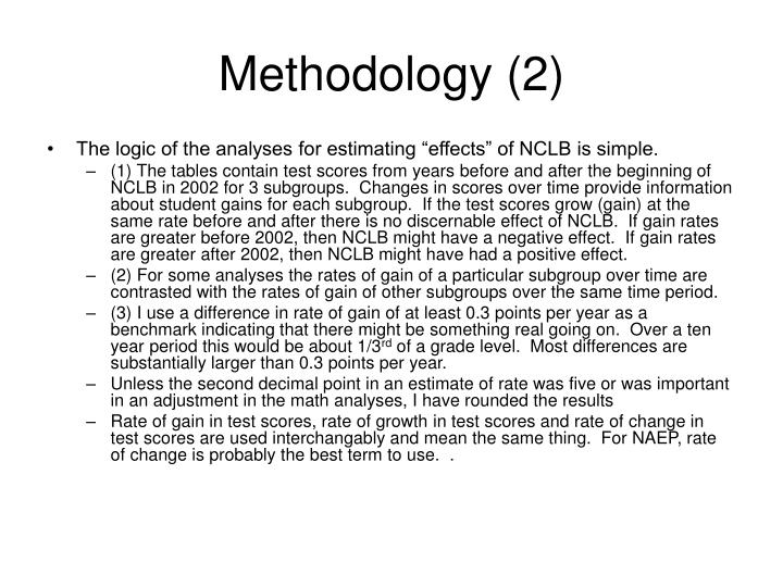 Methodology (2)