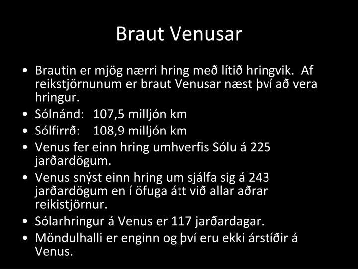 Braut Venusar