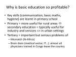 why is basic education so profitable