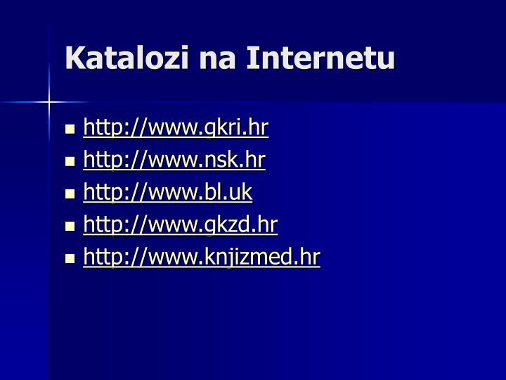 Katalozi na Internetu