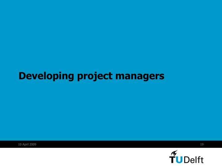 Developing project managers