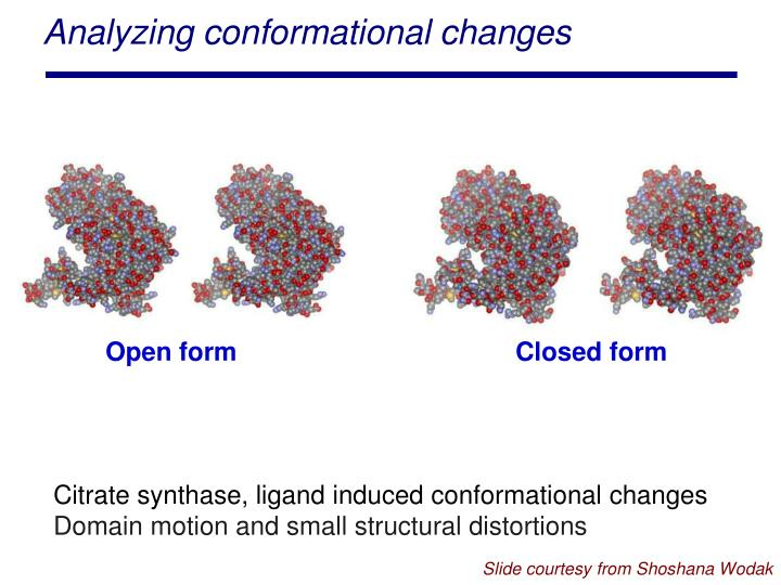 Analyzing conformational changes