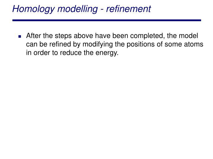 Homology modelling - refinement