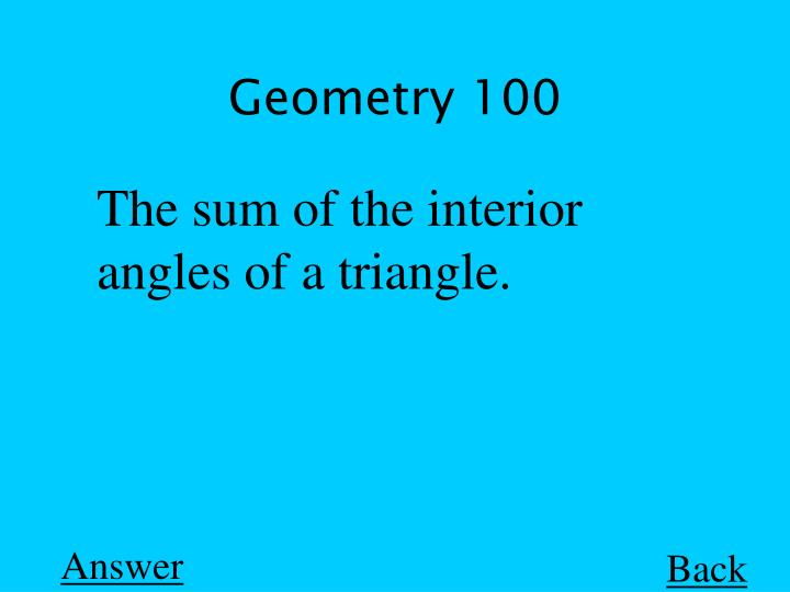 Geometry 100