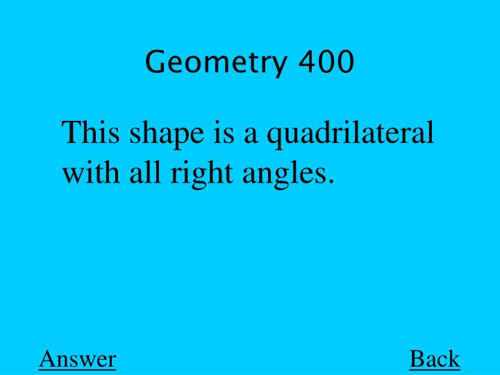 Geometry 400