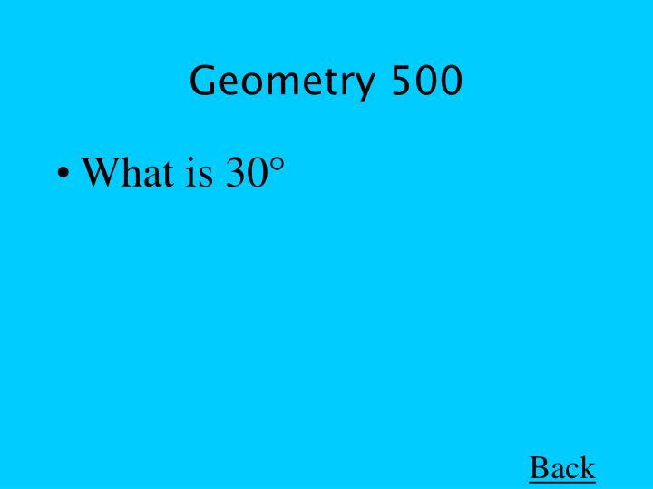 Geometry 500