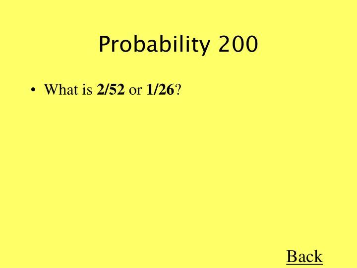 Probability 200