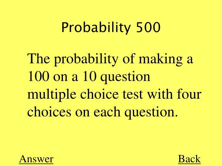 Probability 500
