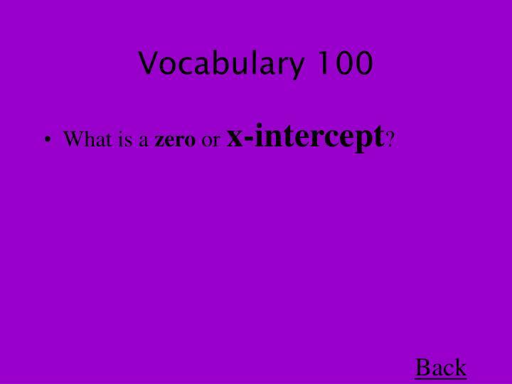 Vocabulary 100