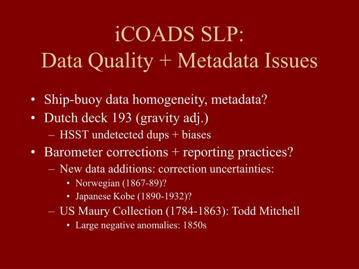 iCOADS SLP: