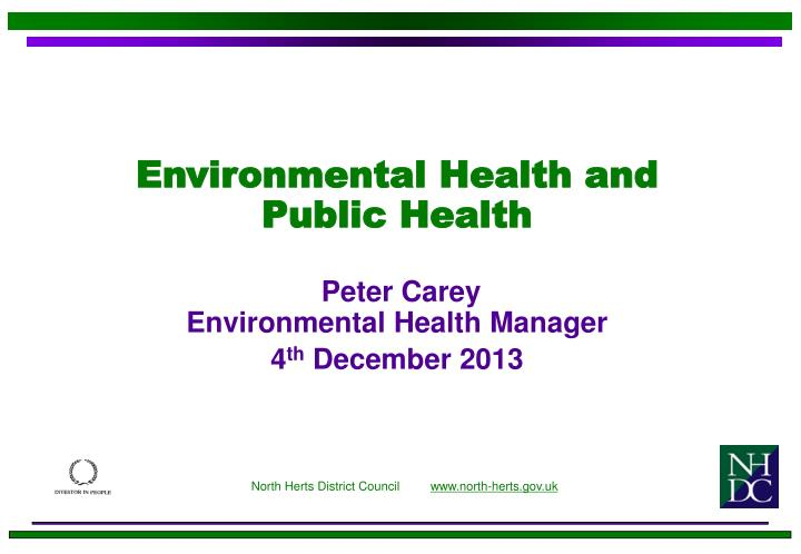 Environmental Health and