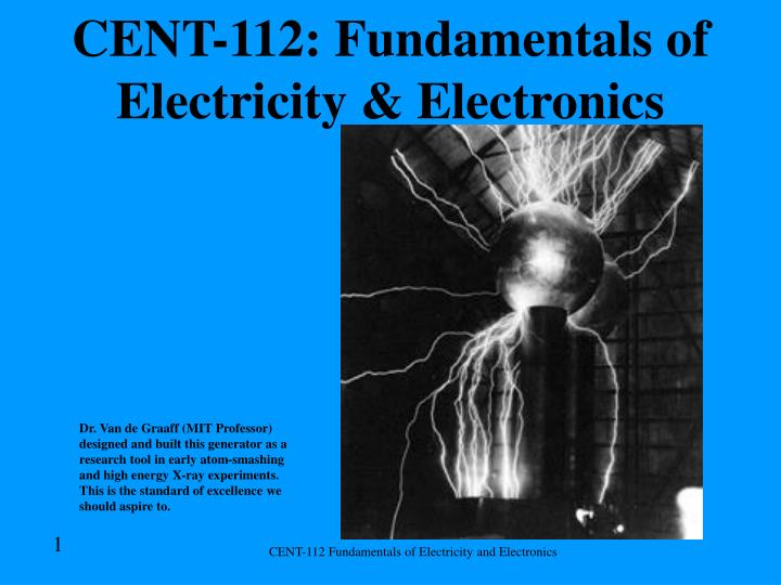 cent 112 fundamentals of electricity electronics n.