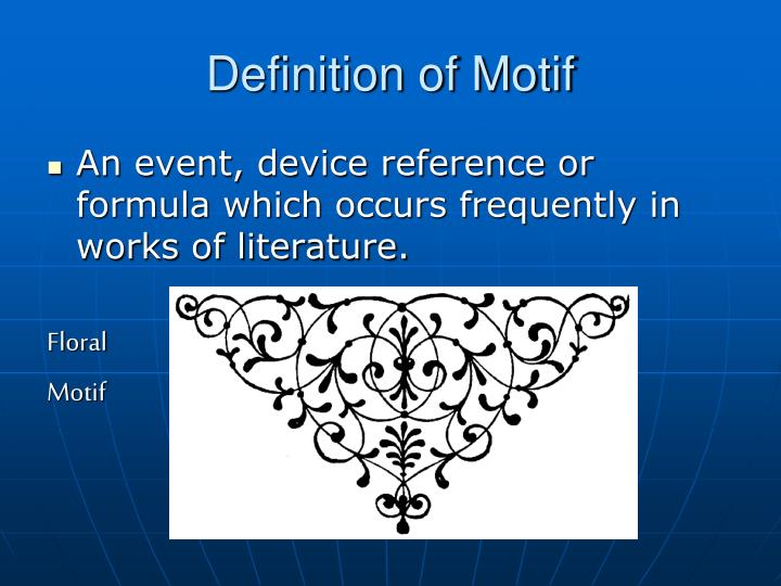 what does motif mean in literature