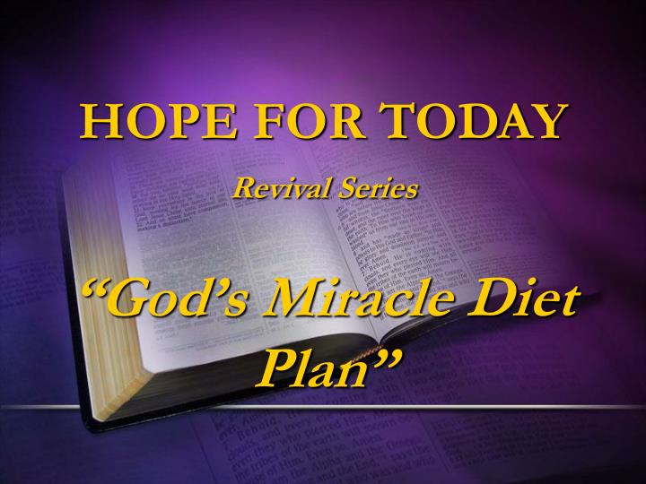 Hope for today revival series