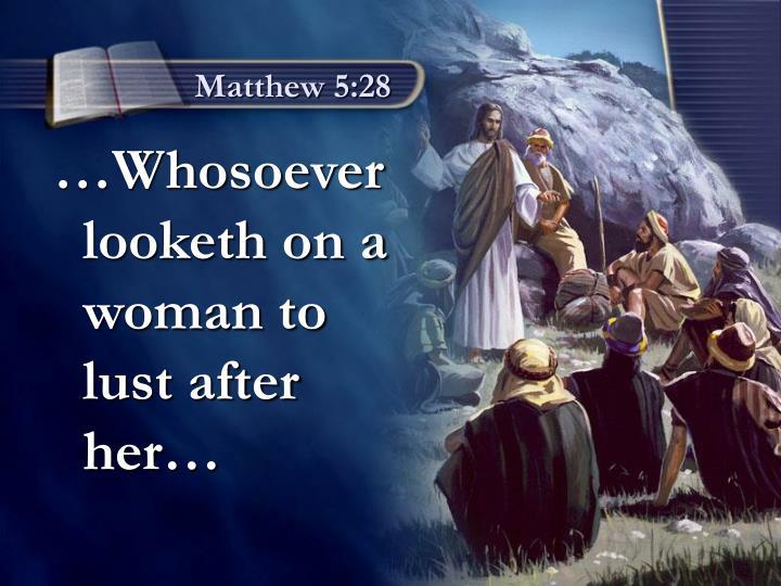 Matthew 5:28