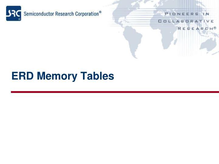 ERD Memory Tables