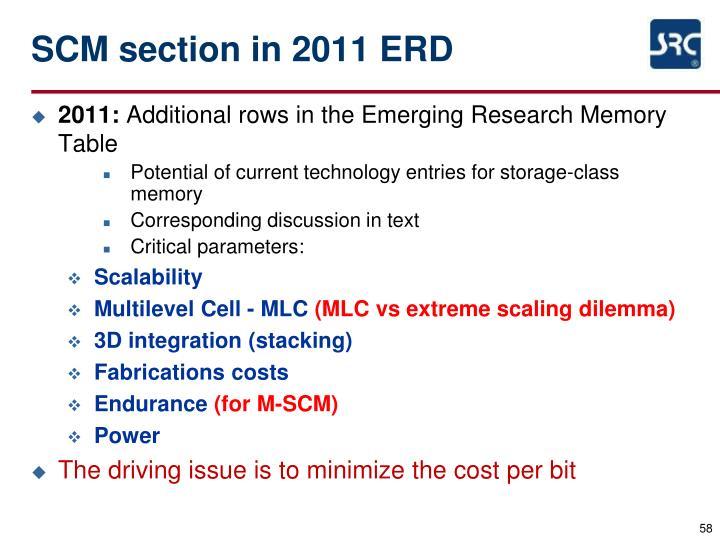 SCM section in 2011 ERD