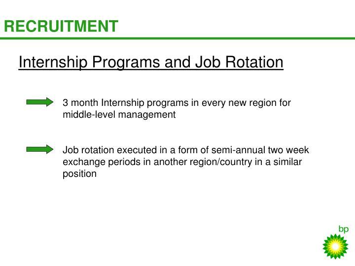 Internship Programs and Job Rotation
